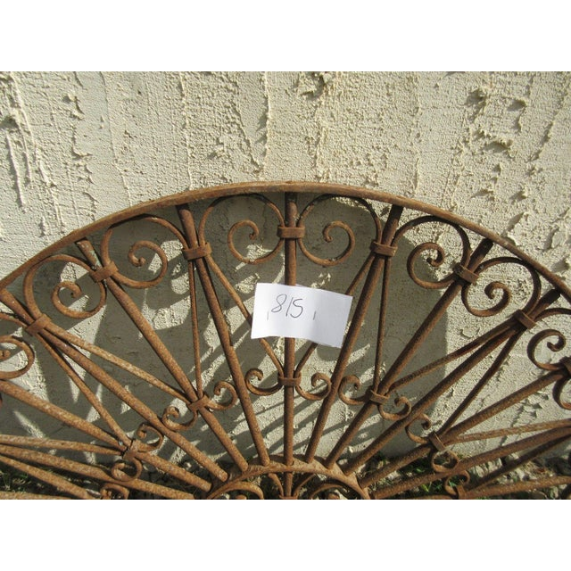 Antique Victorian Iron Gate Architectural Element - Image 7 of 7