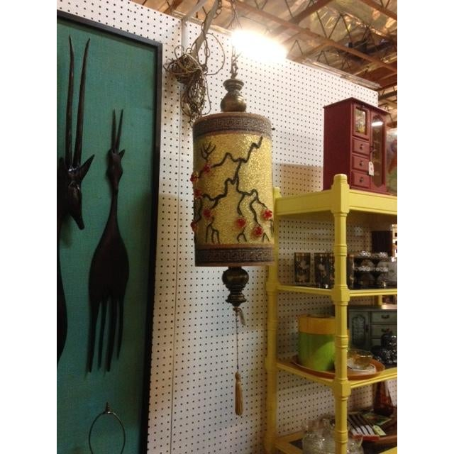 Image of 1940s Chinoiserie Hanging Swag Lamp