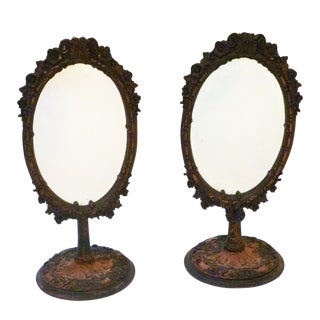 Victorian Rococo Style Mirrors - A Pair