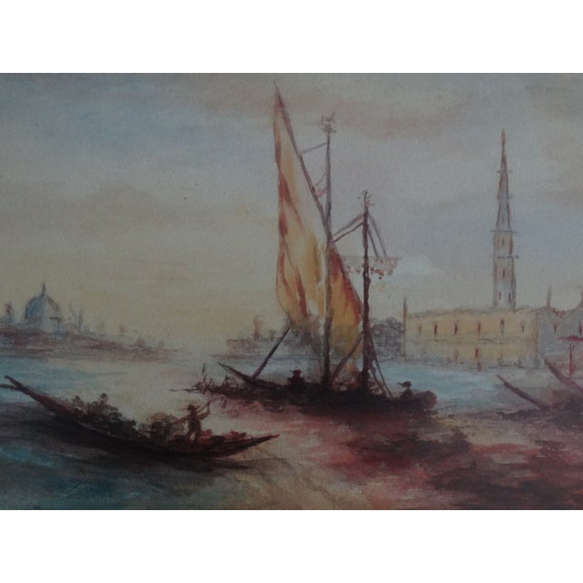 Impressionism Seascape Painting, the Grand Canal, Venice - Image 2 of 6