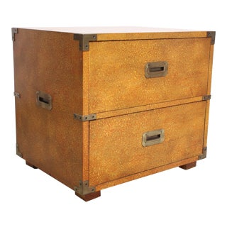 Henredon Campaign-Style Chest in Oyster Finish