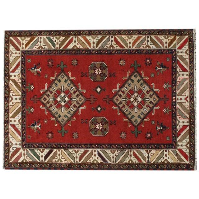"Image of Apadana - New Red Caucasian Rug - 5'10"" x 7'10"""