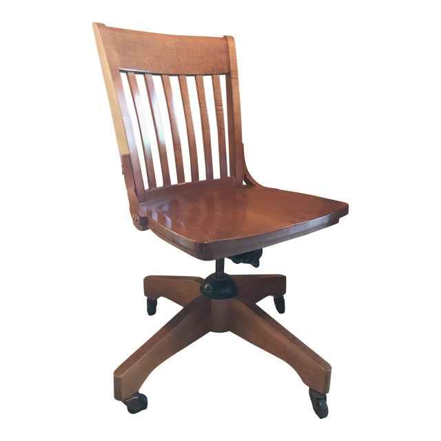 Pottery Barn Wooden Desk Chair - Image 1 of 8