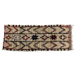 Moroccan Wool Rug - 3′ × 7′10″