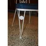 Image of Art Deco White Lacquered Iron Dining Chairs - Set of 6