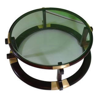 Round Art Deco Style Coffee Table