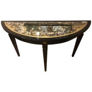 Maison Jansen Églomiséd Demilune Console Table