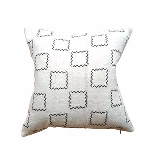 "Squares African Mud Cloth Pillow Case 16"" X 16"""