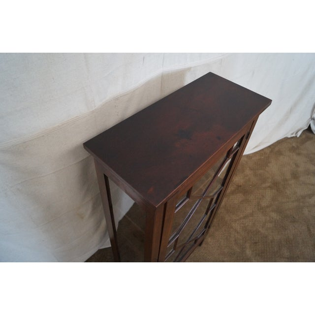 Image of Antique Solid Mahogany Federal Style Bookcase