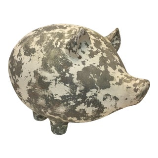 White Washed Terra Cotta Pig