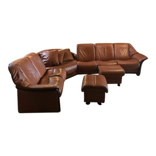 Leather L-Shape Sectional Soda