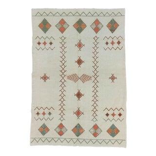 Vintage Decorative Turkish Area Rug - 6′4″ × 9′2″