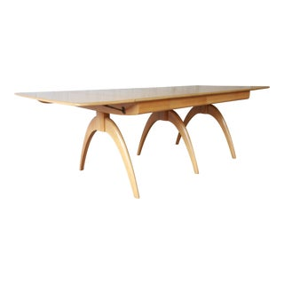 Heywood Wakefield Mid-Century Modern Extension Wishbone Dining Table