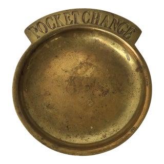 Brass Pocket Change Dish