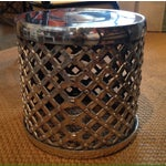 Image of Woven Chrome Garden Stool