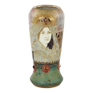 Art Nouveau Portrait Vase