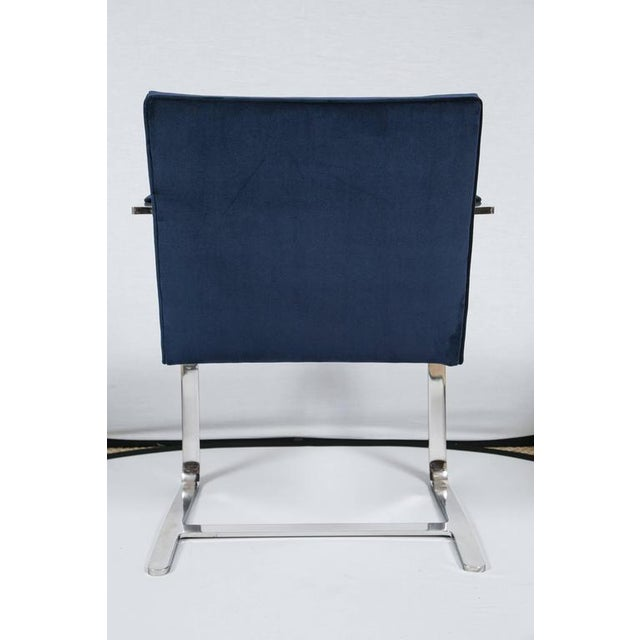 Brno Flat Bar Chairs in Navy Velvet, Set of Six - Image 9 of 9