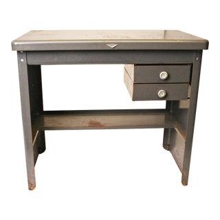 Vintage Cole Steel Industrial Gray Metal Desk