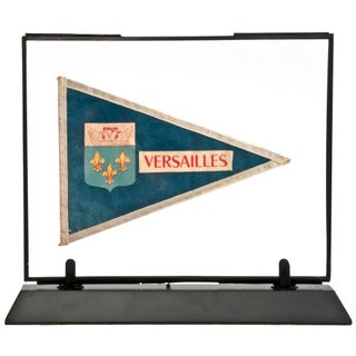Framed Vintage French Versailles Pennant