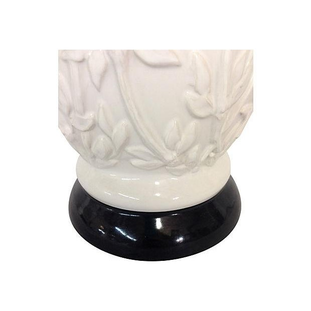 1960s Faux-Bamboo Ceramic Lamps - Pair - Image 4 of 5