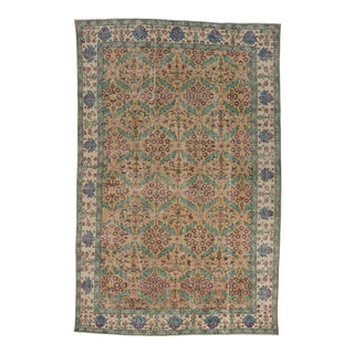 Handknotted Vintage Decorative Turkish Rug - 5′8″ × 8′8″