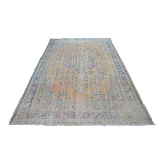 Antique Turkish Oushak Floor Rug - 6′3″ × 9′11″