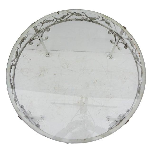 Woodard Round White Iron Patio Coffee Table - Image 3 of 7