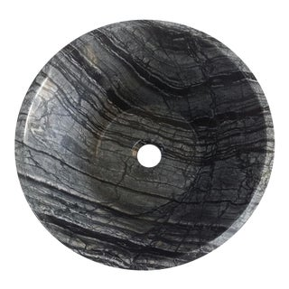 Black Stone Vessel Bowl