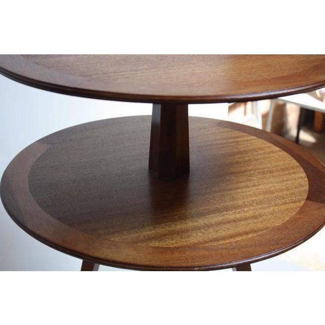 Edward Wormley for Dunbar, Two-Tier Mahogany Occasional Table - Image 10 of 10