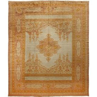"""Antique Oushak Carpet - 13' x 10'10"""""""