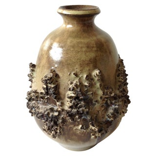 Vintage Scandinavian Fat Lava Pottery Vase