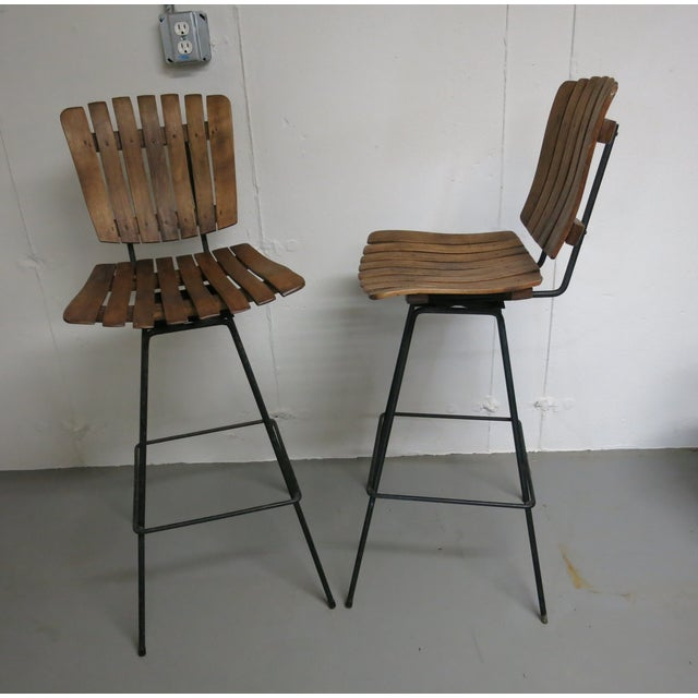 Arthur Umanoff Bar Stools - a Pair - Image 4 of 6