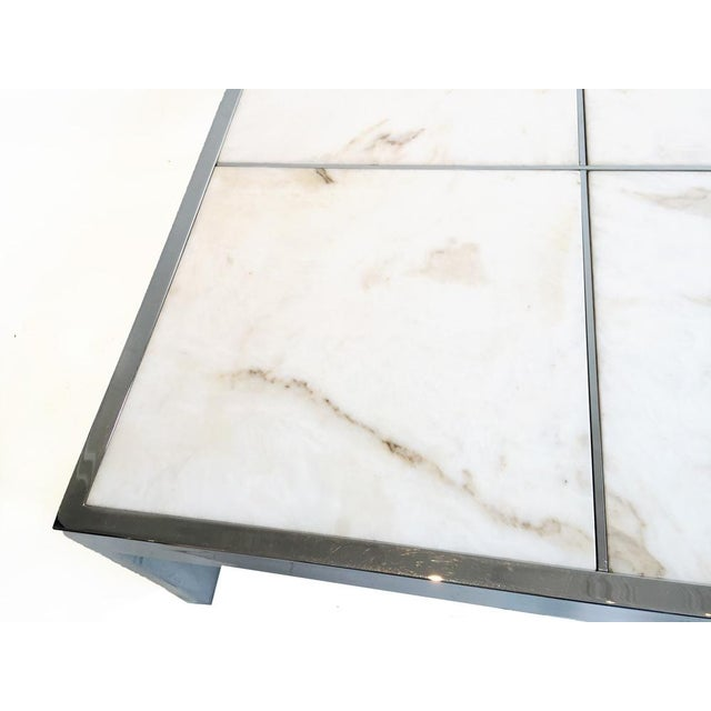 Pace Chrome & Marble Coffee Table - Image 4 of 4