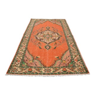 Orange Overdyed Rug - 5′6″ × 9′1″