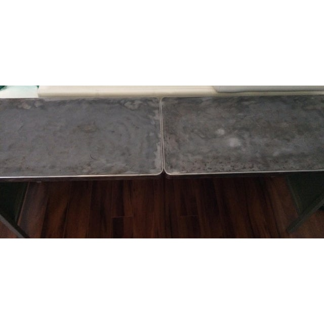 Vintage Steel Industrial Console Table - Image 5 of 7