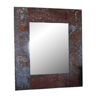 Zinc Coffer Frame Large Mirror
