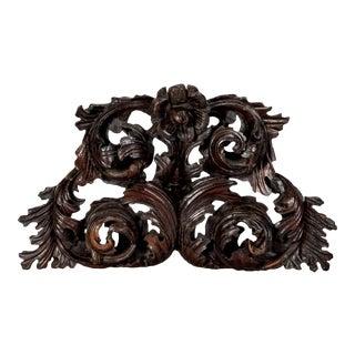 Large Portuguese Carved Oak Architectural Element