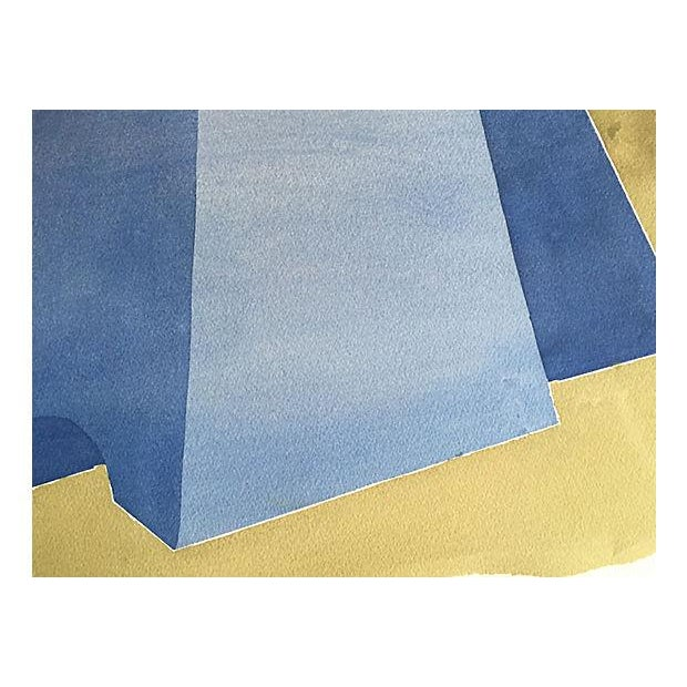 Image of Vintage Abstract Watercolor by R. Stokes 1983