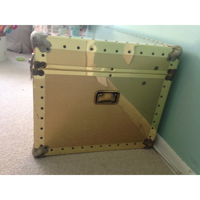 Brass Storage Trunk with Metal Hardware - Image 4 of 7