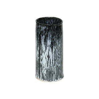 Jun Ware Black & White Splash Pattern Vase