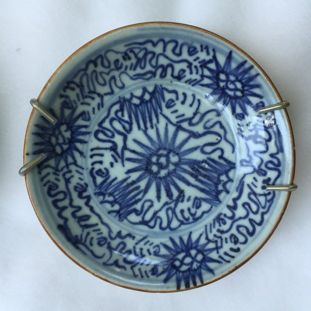 Antique Blue & White Plates, Flower Pattern - 4 - Image 6 of 11