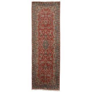 """Vintage Persian Kerman Wool Runner - 3'2"""" x 8'10"""""""