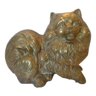 Mid-Century Modern Lifesize Brass Pomeranian