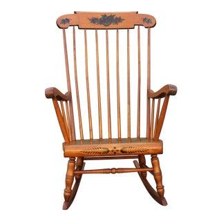 Mid-Century Walnut Classic Rocking Chair