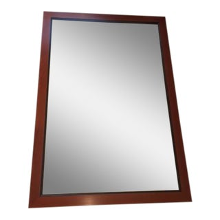 Custom Made Mahogany Framed Beveled Wall Mirror