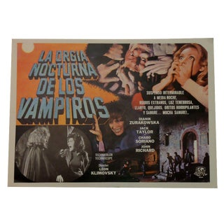 "Vintage ""The Night of the Vampires"" Movie Poster"