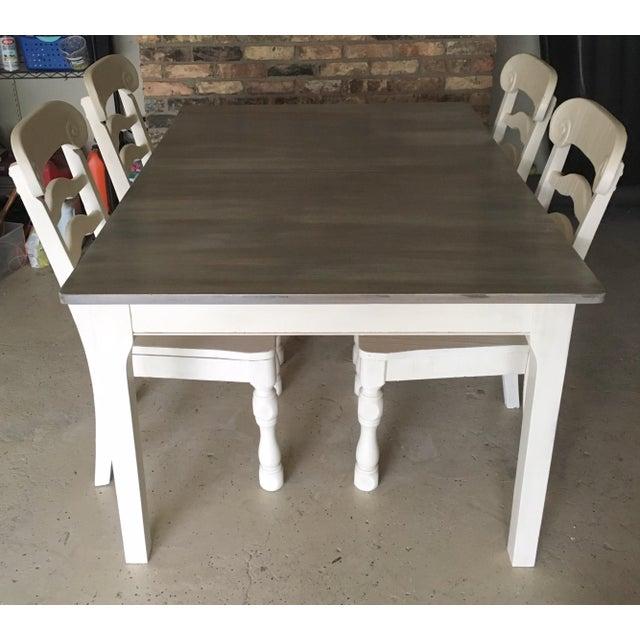 Image of Rustic Pine Wood Dining Set