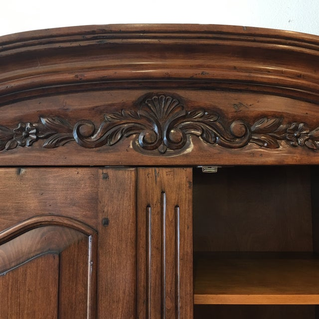 French Provincial Style Media Armoire Cabinet - Image 8 of 11