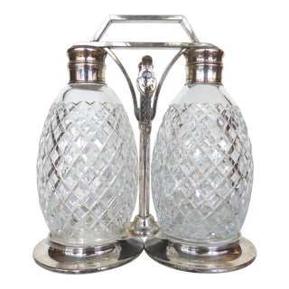 Tiffany & Co. Sterling & Cut Crystal Tantalus