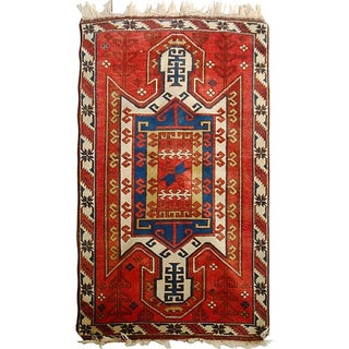 Caucasian Sewan Kazak Rug - 3′6″ × 5′10″